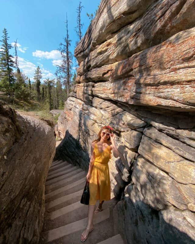 Athabasca Falls Canyon Jasper
