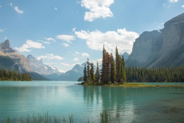 Spirit Island Maligne Lake Jasper National Park