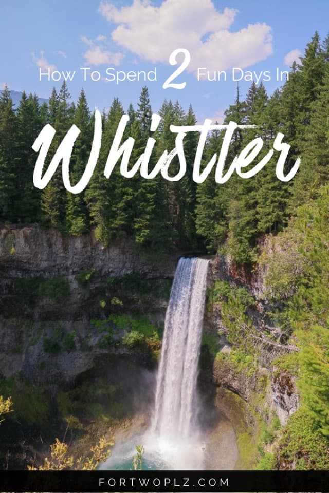 Whistler Itinerary