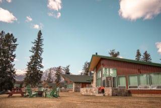 Cabin at Fairmont Jasper Park Lodge overlooking the lake