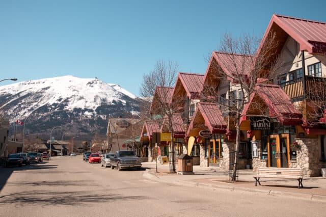 downtown of Jasper National Park