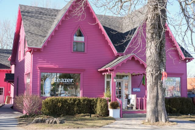 Cute pink shop at Mahone Bay