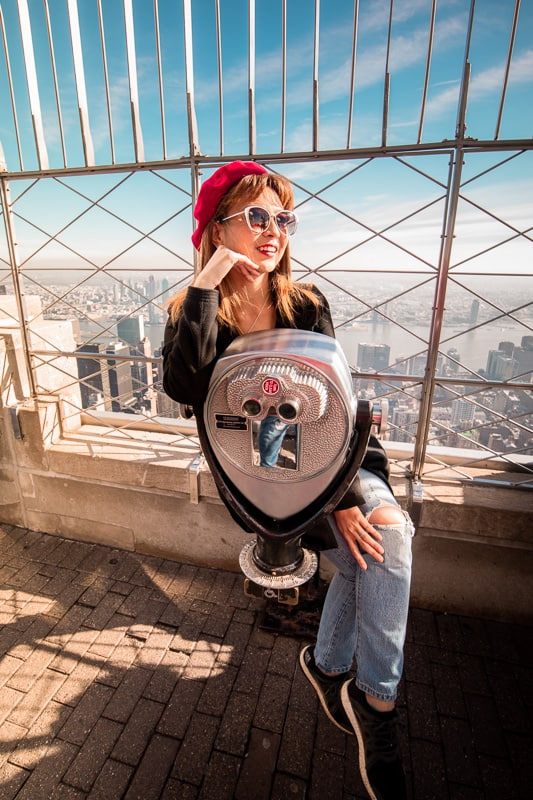 Empire State Building Observation Deck in NYC