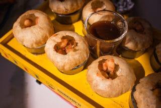 golgappa shots from chacha's tandoor & grill in surrey bc