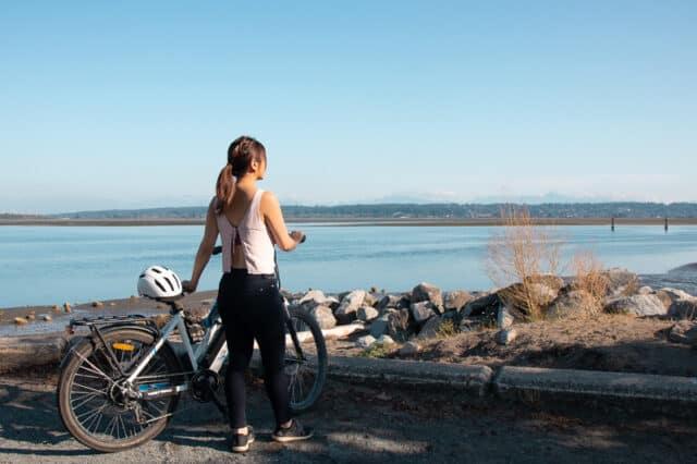 biking in crescent beach in surrey bc