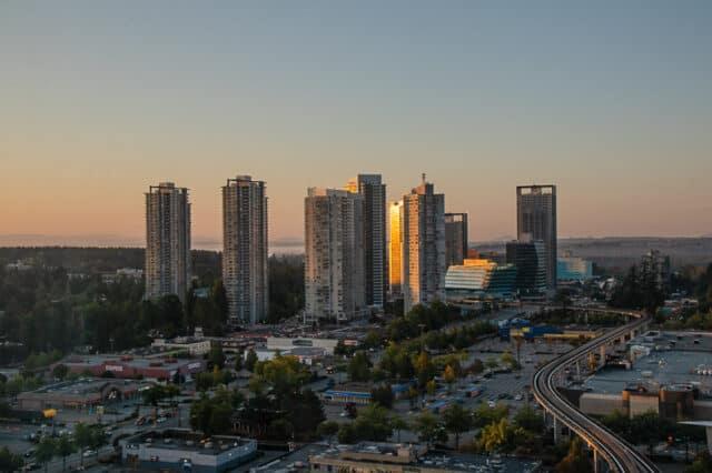 skyline of surrey city centre